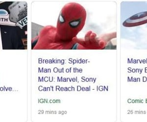 Marvel, sony, and spiderman image