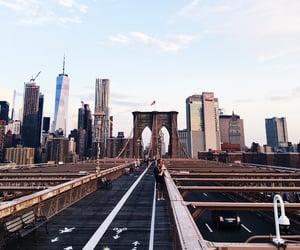 bridge, new york, and sky image