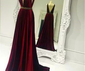 sexy prom dress and red backless evening gown image