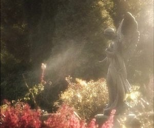 aesthetic, angel, and flowers image