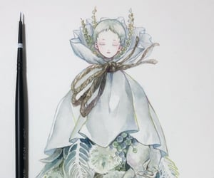 drawing, flower, and flowers image