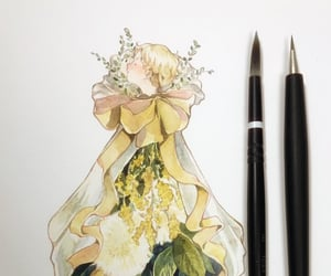 drawing, drawings, and flower image