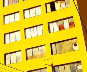 building, facade, and yellow image