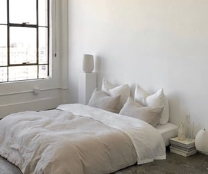 Simple beige & white bedroom