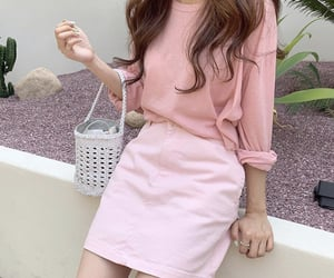fashion, pink, and pink sweater image