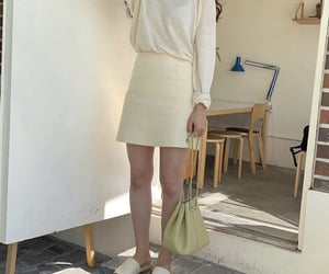 fashion, green bag, and outfit image