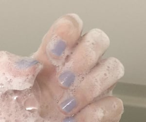 bubble, hand, and nails image