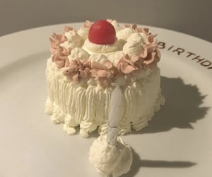 cake, cream, and white image