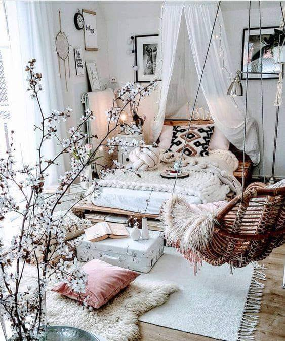 bedroom, rooms, and decor image