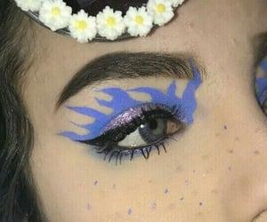 blue, daisy, and dark image