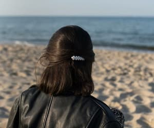 black hair, hair clips, and hairstyle image