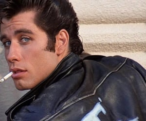 grease, John Travolta, and cigarette image