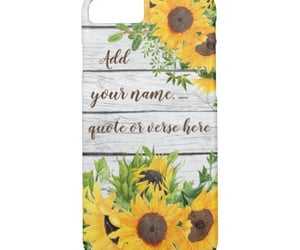 quotes, sunflowers, and wood image