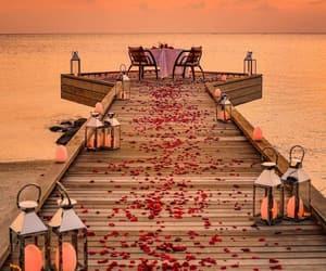 romantic and beach image
