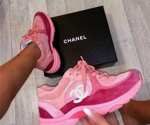 chanel, sneakers, and pink image