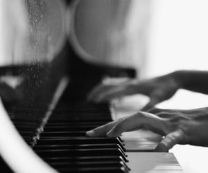 piano, music, and hands image