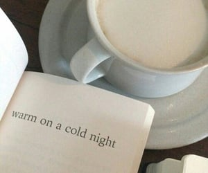 book, coffee, and warm image