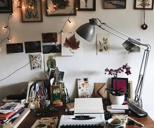 autumn, desk, and home image