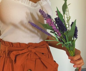 clothes, lavender, and purple flowers image