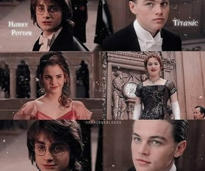 harry potter, jack dawson, and hermione granger image