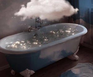clouds, bath, and aesthetic image