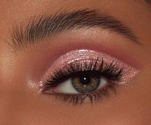 pink, eye, and girl image