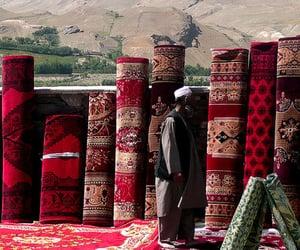 afghan, carpet, and muslims image