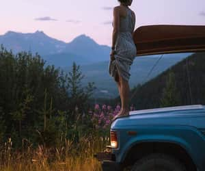 adventure, girl, and hill image