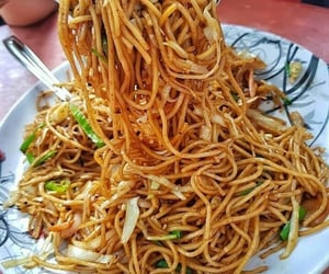 drink, food, and noodles image