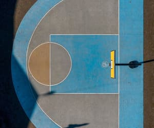 aerial view, Basketball, and blue image
