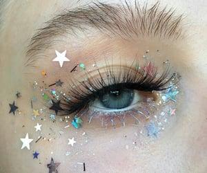 makeup, stars, and glitter image