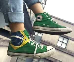 all star, brazil, and converse image