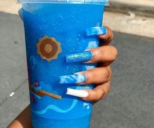 acrylic, blue, and slushie image