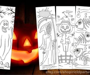 bookmarks, creatures, and spooky image