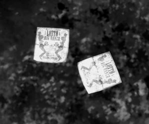 black and white, tickets, and fallout image