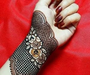 fashion, mehndi, and hand image