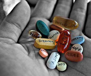 love, pills, and hope image