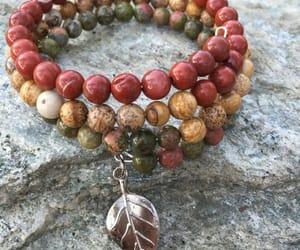 autumn, beads, and bracelet image