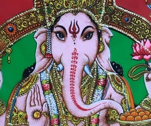 aesthetic, background, and Ganesh image