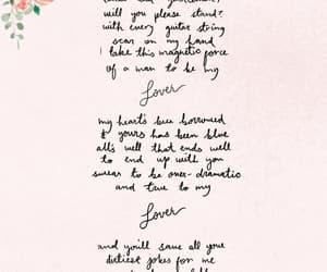 Taylor Swift, lover, and Lyrics image