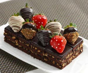 chocolate, strawberry, and cake image