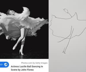 ballet, black&white, and drawing image