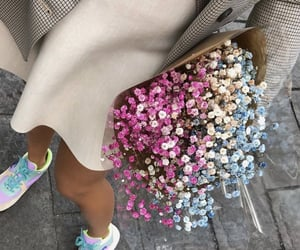 beige, flowers, and style image