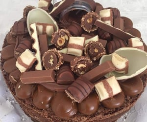 cake, chocolate, and nutella image