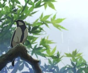anime, gif, and bird image