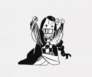 anime girl, black and white, and manga image