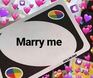 funny, marry me, and hearts image