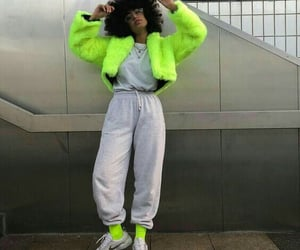 fashion, green, and tracksuit image