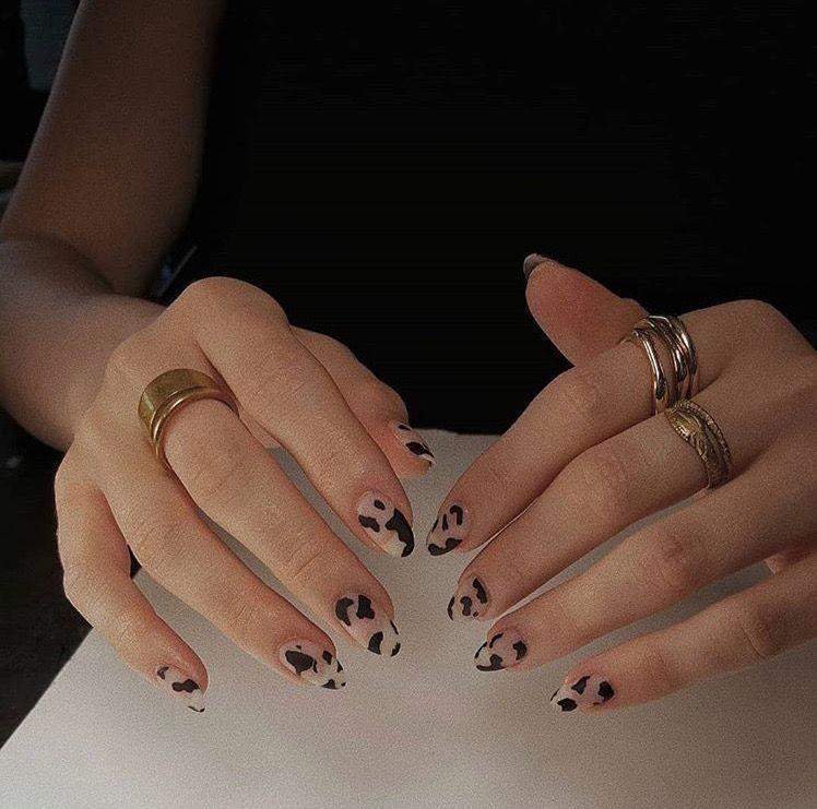 gold, nails, and print image
