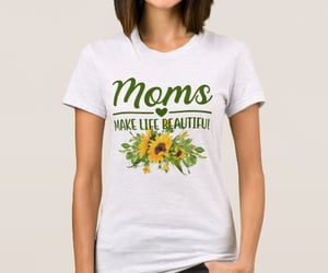 moms, sunflowers, and mothers image